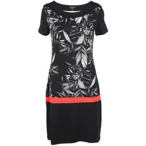 Damen Kleid mit Print und Kontrasteinsatz