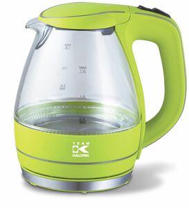 Kalorik Design-Glaswasserkocher TKG JK 1022 Apfelgrün mit LED-Beleuchtung