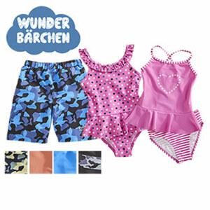 Baby- oder Kinder-Badeanzug oder -Tankini Größe: 74 - 128, je