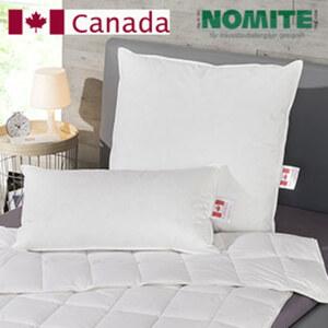 Kopfkissen Hülle: 100 % Baumwolle, Füllung: 1a weiße kanadische neue Federn und Daunen, Klasse 1, 70 % Federn/30 % Daunen, versch. Größen, ab