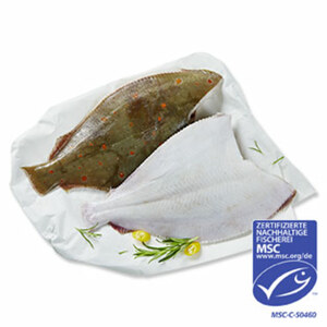 Scholle  küchenfertig ausgenommen, aus MSC-zertifiziertem Wildfang, Nordostatlantik,  je 100 g