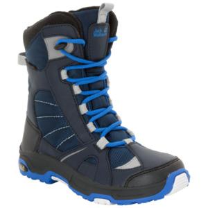 Jack Wolfskin Wasserdichte Jungen Winterstiefel Boys Snow Ride Texapore 29 blau