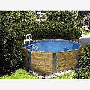 Weka -              Weka Massivholz-Pool '593' Blockbohlen, achteckig, 310 x 310 x 116 cm