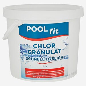 Pool fit Chlorgranulat schnell löslich 3 kg
