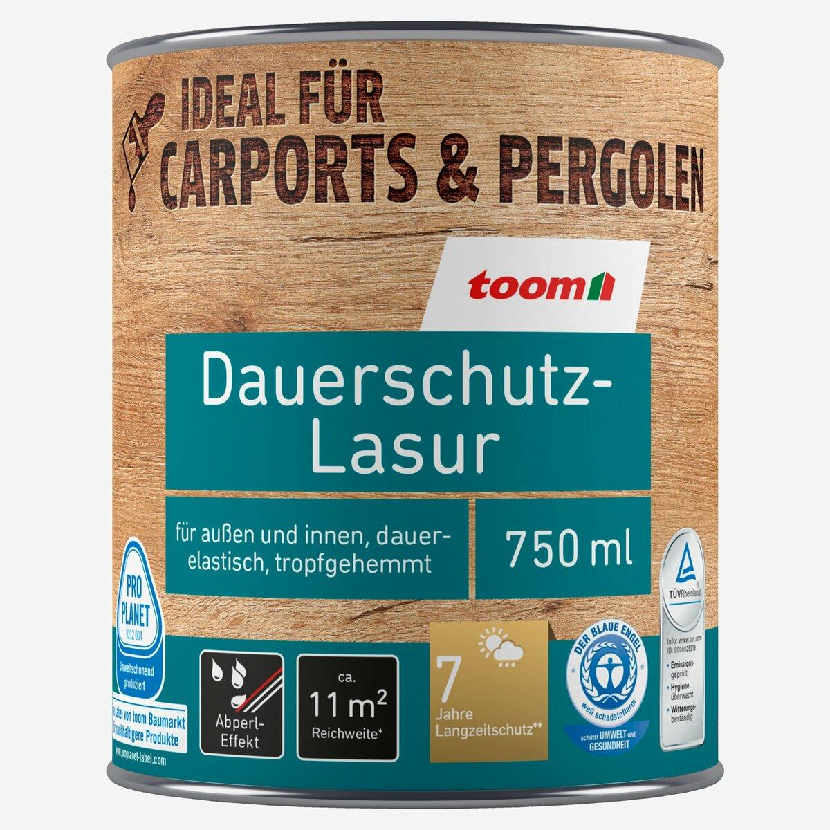 Bild 2 von toomEigenmarken -              toom Dauerschutz-Lasur weiß 750 ml