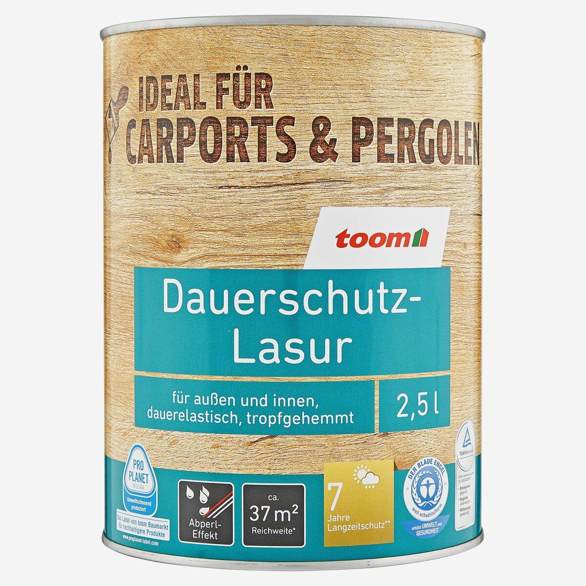 Bild 1 von toomEigenmarken -              toom Dauerschutz-Lasur palisanderfarben 2500 ml