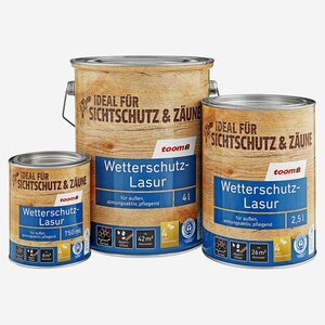 toomEigenmarken -              toom Wetterschutz-Lasur mahagonifarben 4 l