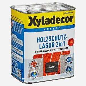 Xyladecor -              Xyladecor Holzschutzlasur 2in1 ebenholzfarben 0,75 l