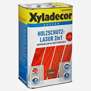 Xyladecor -              Xyladecor Holzschutzlasur 2in1 nussbaumfarben 2,5 l
