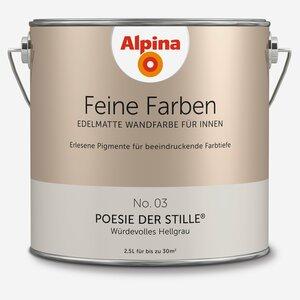 Alpina -              Alpina Wandfarbe 'Feine Farben' No. 03 'Poesie der Stille', hellgrau, 2,5 l