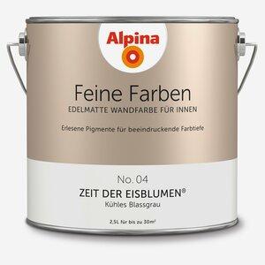 Alpina -              Alpina Wandfarbe 'Feine Farben' No. 04 'Zeit der Eisblumen', blassgrau, 2,5 l