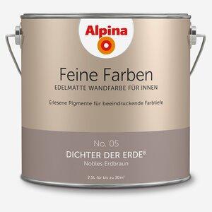 Alpina -              Alpina Wandfarbe 'Feine Farben' No. 05 'Dichter der Erde', erdbraun, 2,5 l