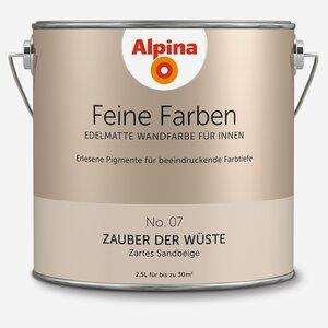 Alpina -              Alpina Wandfarbe 'Feine Farben' No. 07 'Zauber der Wüste', sandbeige, 2,5 l