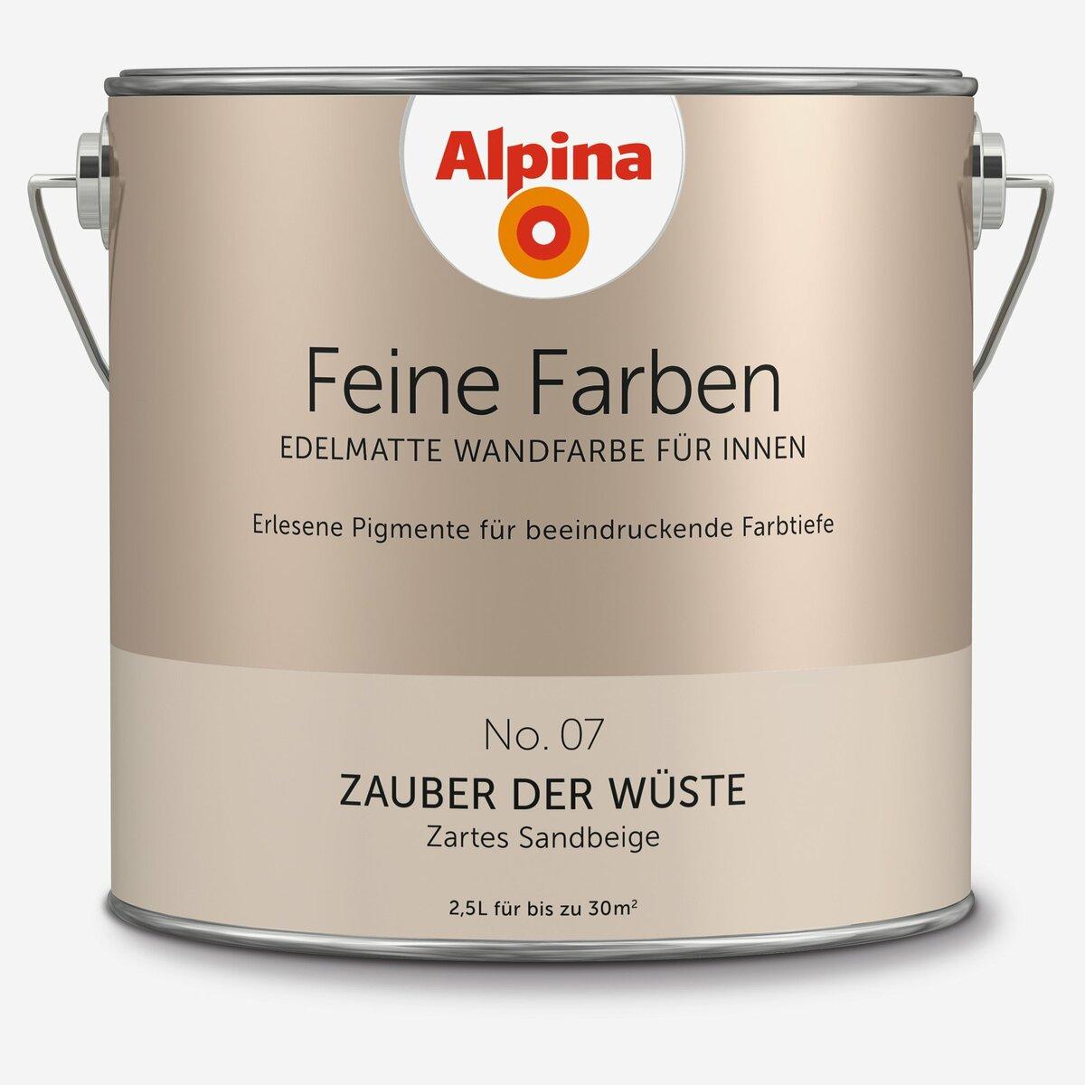 Bild 1 von Alpina -              Alpina Wandfarbe 'Feine Farben' No. 07 'Zauber der Wüste', sandbeige, 2,5 l