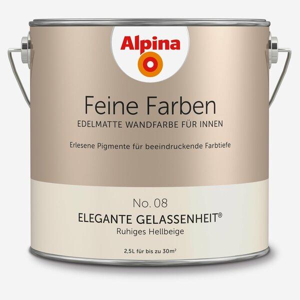 Alpina -              Alpina Wandfarbe 'Feine Farben' No. 08 'Elegante Gelassenheit', hellbeige, 2,5 l