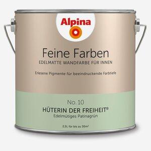 Alpina -              Alpina Wandfarbe 'Feine Farben' No. 10 'Hüterin der Freiheit', patinagrün, 2,5 l