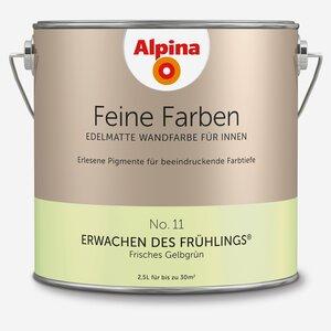 Alpina -              Alpina Wandfarbe 'Feine Farben' No. 11 'Erwachen des Frühlings', gelbgrün, 2,5 l