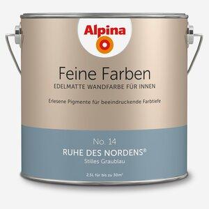 Alpina -              Alpina Wandfarbe 'Feine Farben' No. 14 'Ruhe des Nordens', graublau, 2,5 l