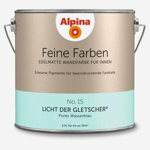 Alpina -              Alpina Wandfarbe 'Feine Farben' No. 15 'Licht der Gletscher', wasserblau, 2,5 l