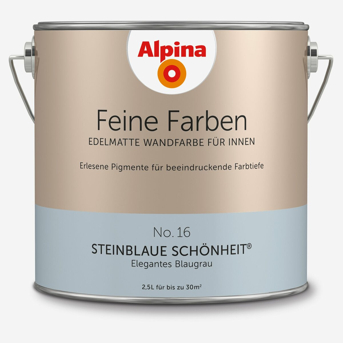 Bild 1 von Alpina -              Alpina Wandfarbe 'Feine Farben' No. 16 'Steinblaue Schönheit', blaugrau, 2,5 l