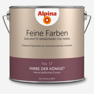 Alpina -              Alpina Wandfarbe 'Feine Farben' No. 17 'Farbe der Könige', purpur, 2,5 l