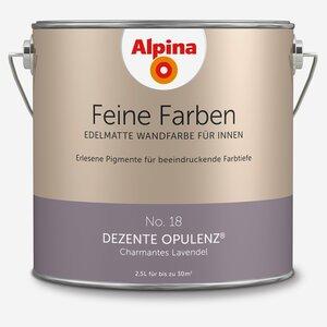 Alpina -              Alpina Wandfarbe 'Feine Farben' No. 18 'Dezente Opulenz', lavendel, 2,5 l