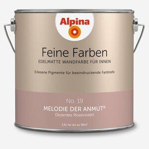 Alpina -              Alpina Wandfarbe 'Feine Farben' No. 19 'Melodie der Anmut', roséviolett, 2,5 l