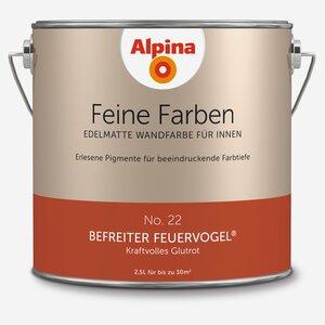 Alpina -              Alpina Wandfarbe 'Feine Farben' No. 22 'Befreiter Feuervogel', glutrot, 2,5 l