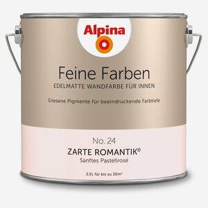 Alpina -              Alpina Wandfarbe 'Feine Farben' No. 24 'Zarte Romantik', pastellrosé, 2,5 l