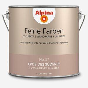 Alpina -              Alpina Alpina Wandfarbe 'Feine Farben' No. 27 'Erde des Südens', terrakotta, 2,5 l