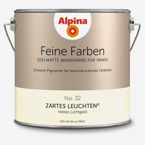 Alpina -              Alpina Wandfarbe 'Feine Farben' No. 32 'Zartes Leuchten', lichtgelb, 2,5 l