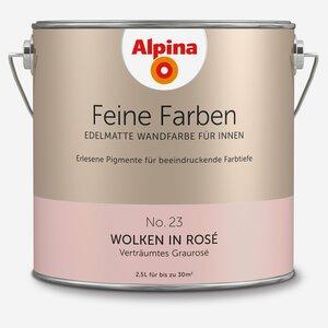 Alpina -              Alpina Wandfarbe 'Feine Farben' No. 23 'Wolken in Rosé', graurosé, 2,5 l