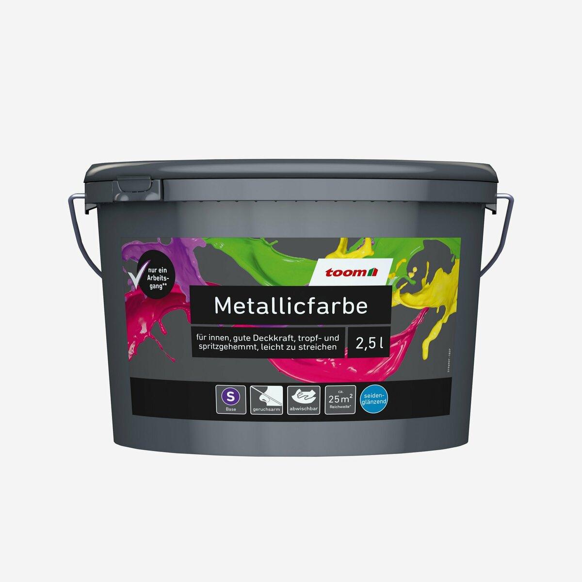 Bild 1 von toomEigenmarken -              toom Metallicfarbe Base 2,5 l