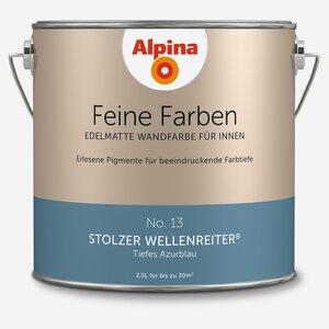 Alpina -              Alpina Wandfarbe 'Feine Farben' No. 13 'Stolzer Wellenreiter', azurblau, 2,5 l