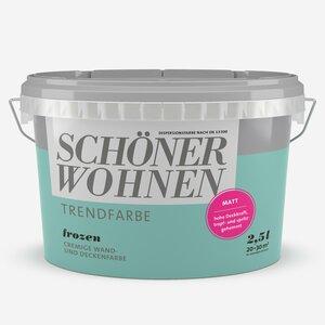 SchoenerWohnen -              Schöner Wohnen Wand- und Deckenfarbe Trendfarbe 'Frozen' eisblau matt 2,5 l