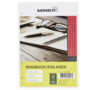 Minea Ringbucheinlagen kariert DIN A5