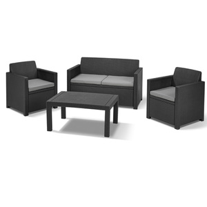 Allibert Lounge-Set Merano 8-teilig, Farbe Graphit