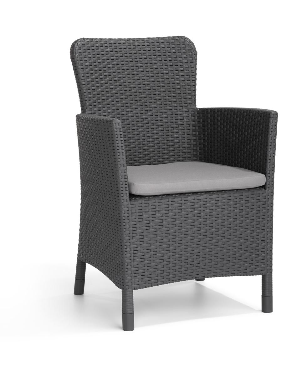 Bild 1 von Allibert Miami Dining 1 Stuhl + Kissen, Graphitgrau