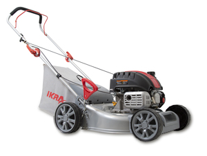 IKRA B-Rasenmäher IBRM 40-Z130 (Motorleistung: 2,2 kW, Schnitthöhe: 25-75 mm, Mähsystem: Fangen und Heckauswurf, Schnittbreite: ca. 40,5 cm, Rasenflächen bis 900 m², Fangkorb: 40 l)