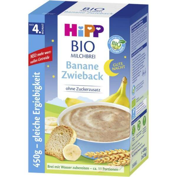HiPP Bio Milchbrei Banane Zwieback ab dem 4. Monat 8.87 EUR/1 kg
