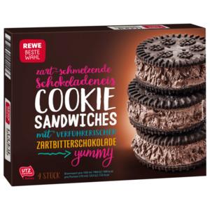 REWE Beste Wahl Schokoladeneis Cookie Sandwiches 280ml