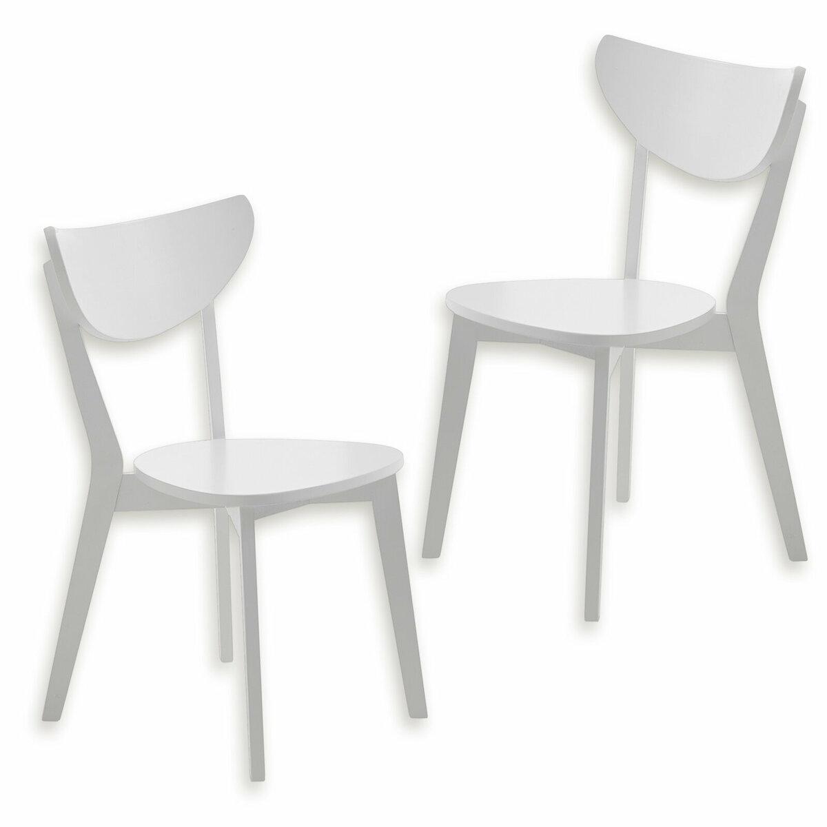 Bild 1 von 2er-Set Stuhl CAROLINA - weiß - teilmassiv