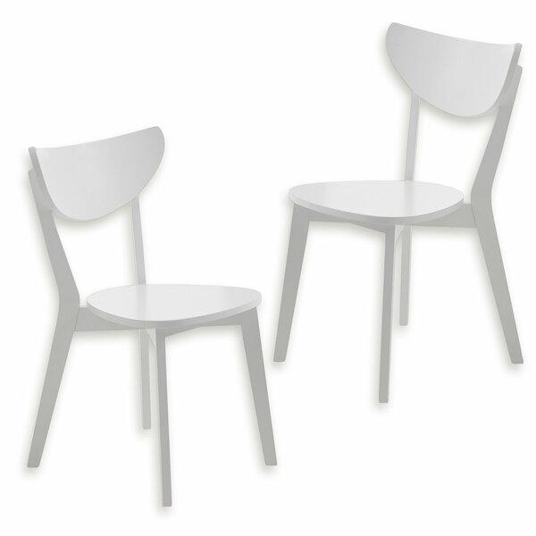 2er-Set Stuhl CAROLINA - weiß - teilmassiv