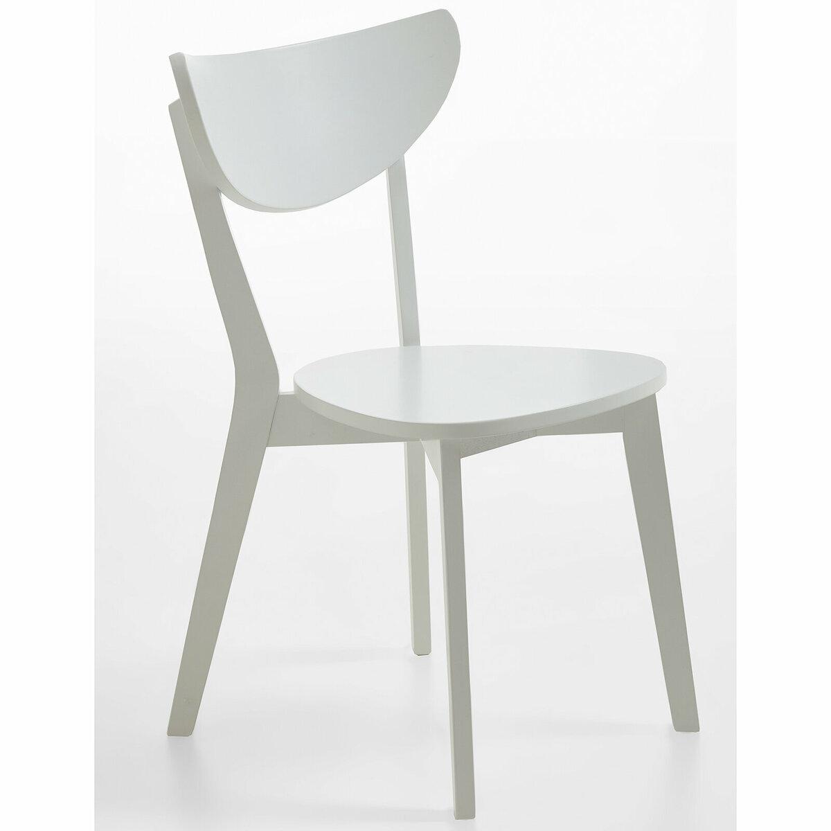 Bild 2 von 2er-Set Stuhl CAROLINA - weiß - teilmassiv
