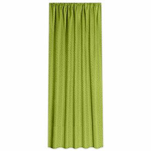 Vorhang CURL - grün - Jaquard - 140x245 cm