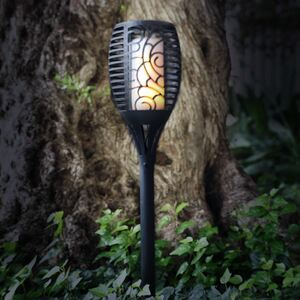 LED-Solar-Gartenfackel Rattanoptik 12x75,5cm