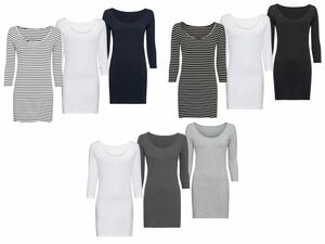 ESMARA® 3 Damen Longshirts