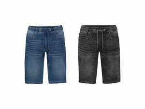 LIVERGY® Herren Sweat-Denim-Bermudas