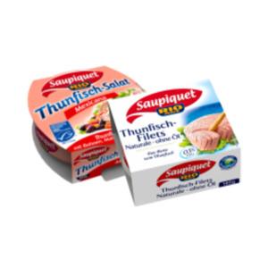 Saupiquet Thunfisch-Filets naturale, in Sonnenblumenöl, Thunfisch-Salat oder