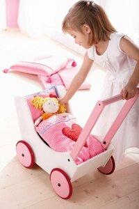 HABA Puppenwagen Herzen